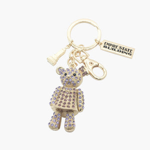 Sparkling Boy Bear Key Chain