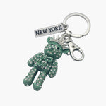 Sparkling Liberty Bear Key Chain
