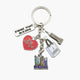 Skyline & Heart Dangle Key Chain