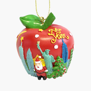 NY Apple Skyline Ornament