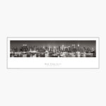 NYC Skyline Hudson View Black & White Panoramic Poster