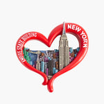 New York Red Heart Skyline