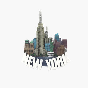 New York Color Skyline Magnet