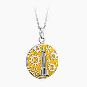 Empire State Clockwork Necklace