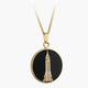 Empire State Building Enamel Necklace