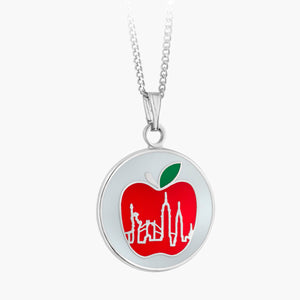 NYC Skyline Apple Pendant