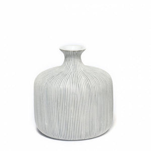 Funkis - Lindform Vase Bottle Grey Stripe - Small - 8cm