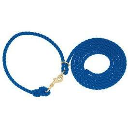 Livestock Neck Rope, Blue Poly, 1/2-In. x 10-Ft.