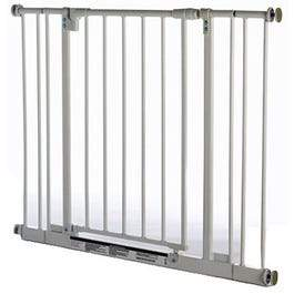 Pet Gate, White Metal, 28 to 38.5 x 29-In.