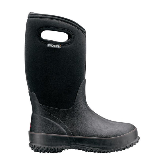 Bogs Classic Big Kid Black Boots with Handles