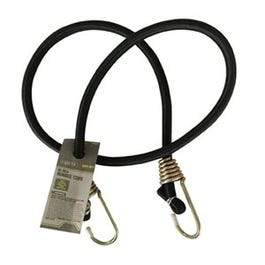 Bungee Cord, Heavy Duty, Black, 40-In.
