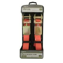 2-Pack 1 x 10-Inch Ratchet Tie-Downs
