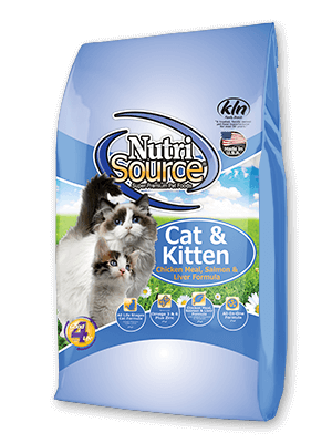 NutriSource Cat & Kitten Chicken Meal, Salmon & Liver Formula Cat Food