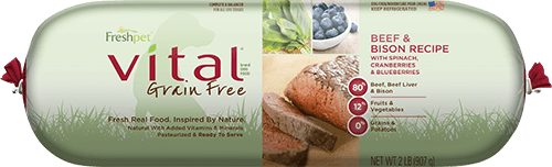Vital® Grain Free Beef & Bison Dog Food Recipe With Spinach, Cranberries & Blueberries