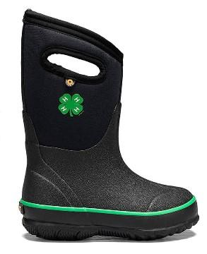Bogs Classic 4-H Black Kid's Boots