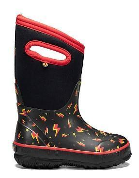 Bogs Classic Lightning Black Multi Kid's Boots