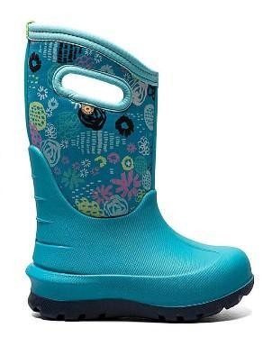 Bogs Neo-Classic Garden Party Teal Multi Kids Boots