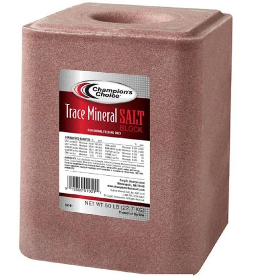 Champion Choice Trace Mineral Salt Block 50lb