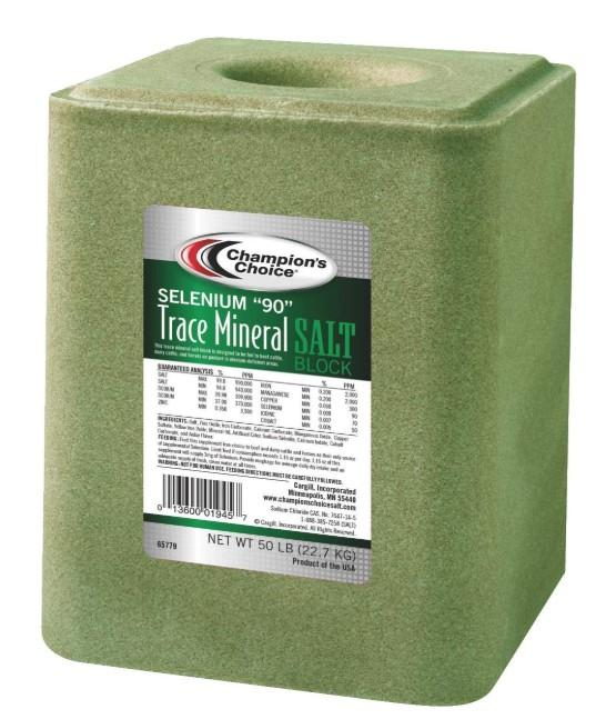 "Champion's Choice Selenium ""90"" Trace Mineral Salt Block 50lb"