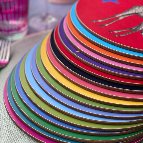 Colourful animal and star place mats