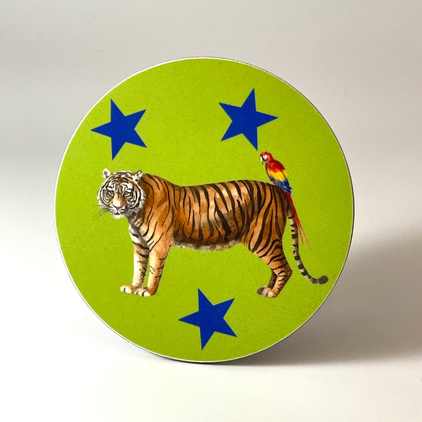 Tiger and Parrot Terry and Polly Coaster