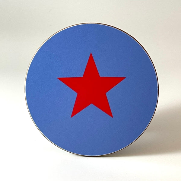 Blue and Red Star Coaster