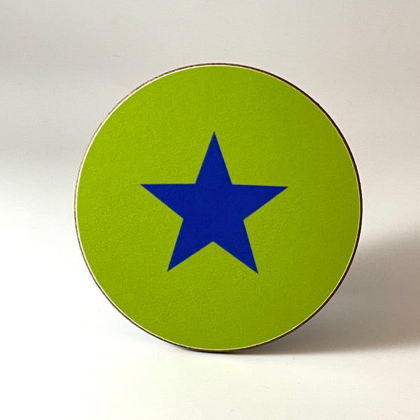 Green and Blue Star Coaster