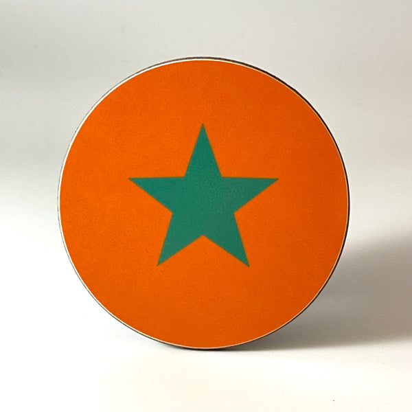 Orange and Green Star Coaster