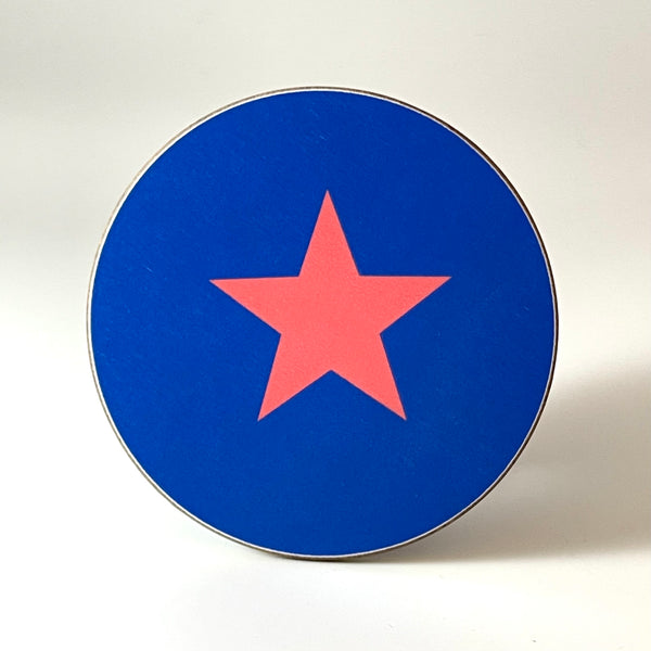 Blue and Pink Star Coaster