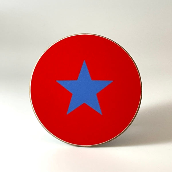 Red and Blue Star Coaster