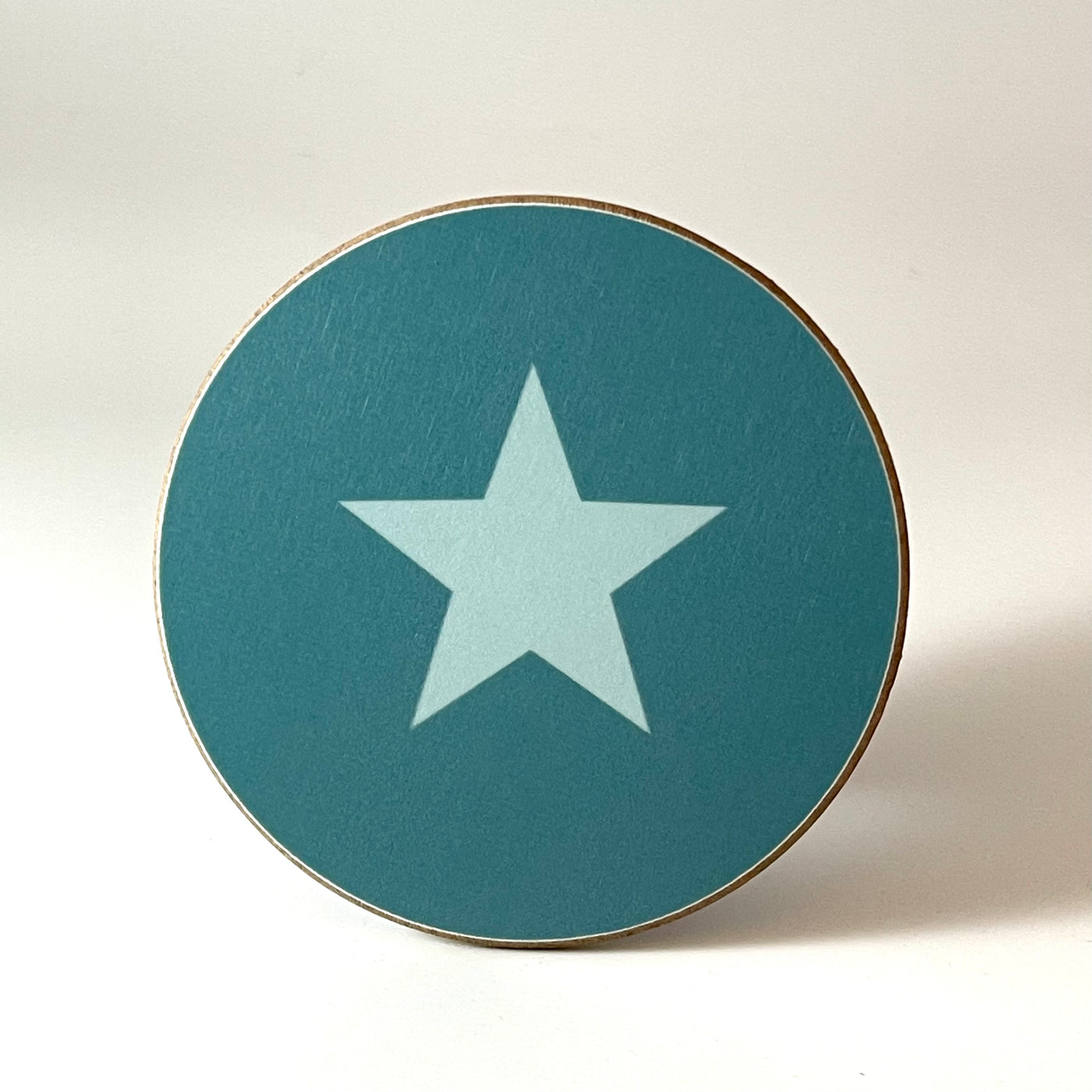 Teal and Aqua Star Coaster