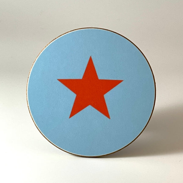 Blue and Coral Star Coaster