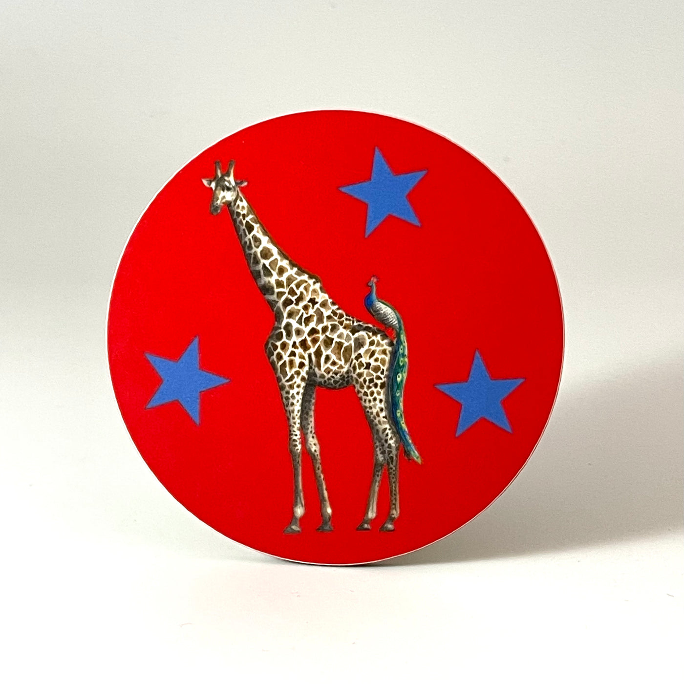 Giraffe and Peacock Muriel and George Coaster