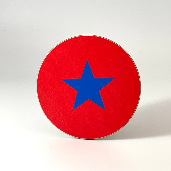 Red and Royal Blue Star Coaster