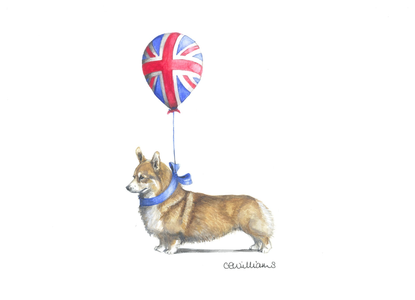 Corgi - Reginald and His Favourite Balloon Print