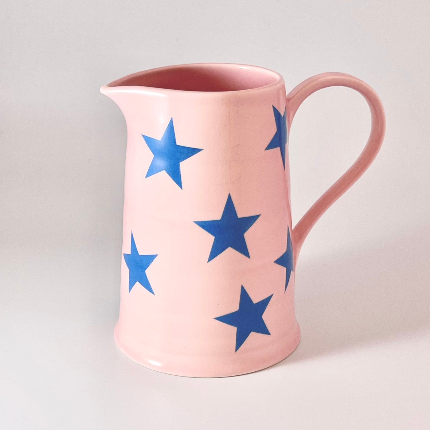 Pink and Blue Star Jug