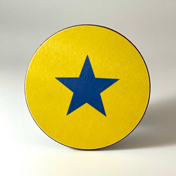 Yellow and Blue Star Coaster