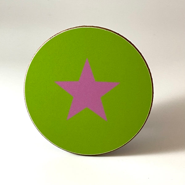 Green and Lilac Star Coaster