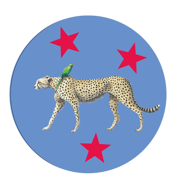 Cheetah and Parrot Linford and Pandora Place Mat