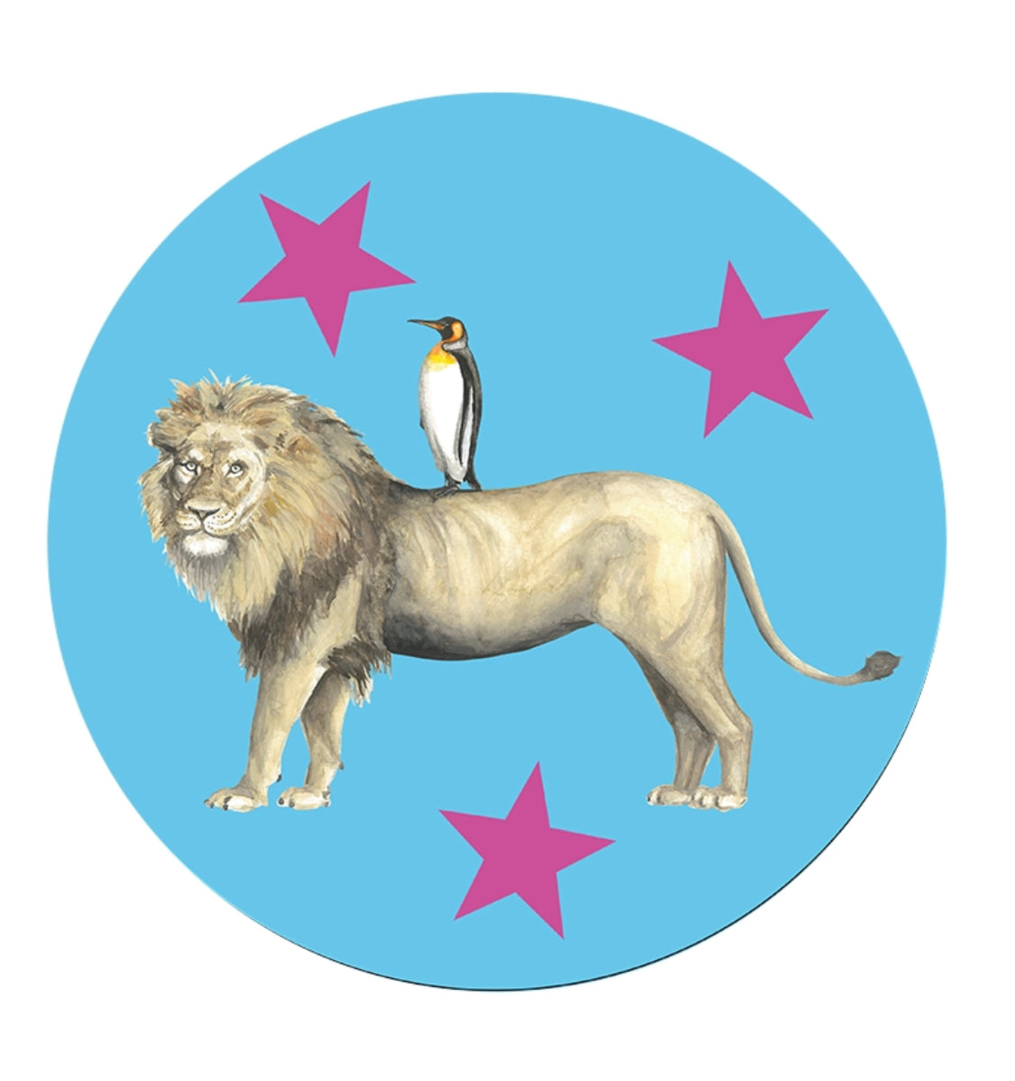 Lion and Penguin Lancelot and Perdita Place Mat