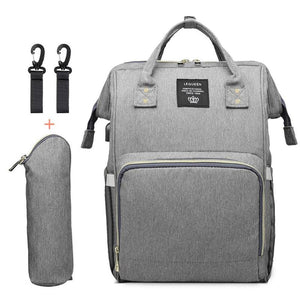 Light Grey Nappy Backpack