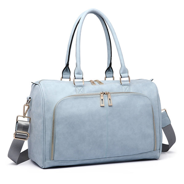 Sky Blue Faux Leather Change Bag,,CIAMBI,CIAMBI diaper bag, nappy bag, change bag