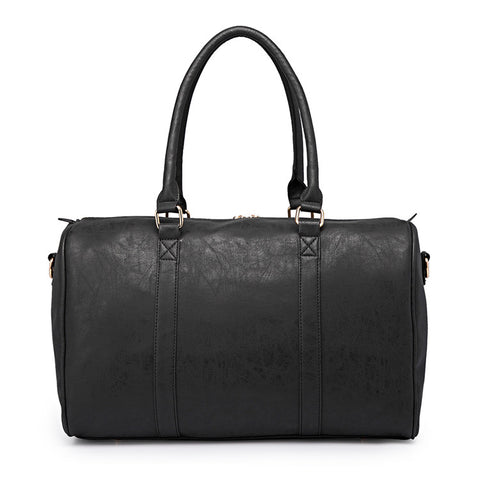 Black Faux Leather Change Bag,,CIAMBI,CIAMBI diaper bag, nappy bag, change bag