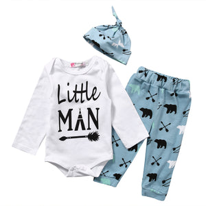Little Man Baby Bag Set