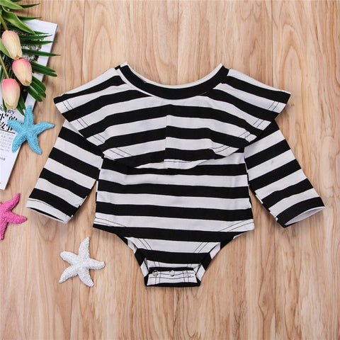 Stripes Off Shoulder Romper