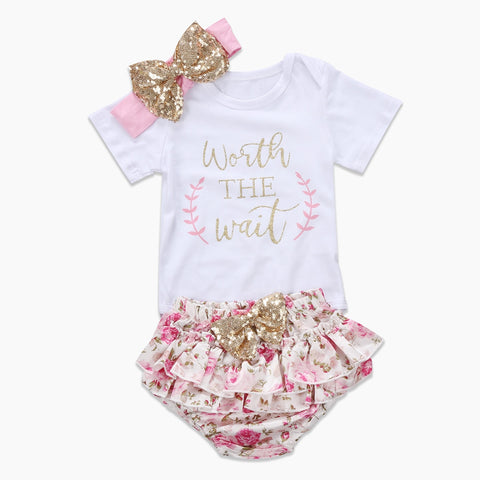 Worth The Wait Ruffle Pants and Bodysuit Set