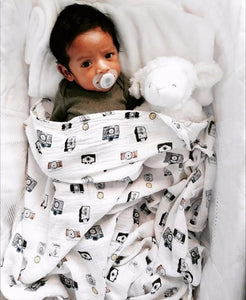Little Photographer Swaddle (100% Bamboo)