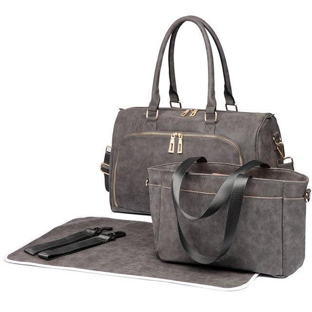 Coffee Faux Leather Change Bag,,CIAMBI,CIAMBI diaper bag, nappy bag, change bag