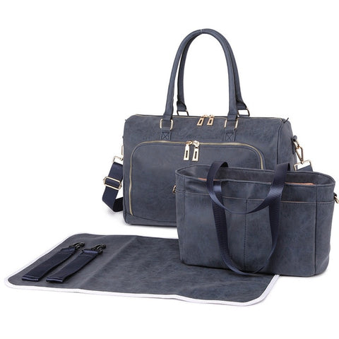 Space Grey Faux Leather Change Bag,,CIAMBI,CIAMBI diaper bag, nappy bag, change bag