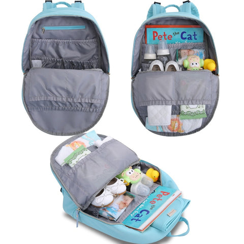 Azura Canvas Nappy Backpack,,Mommore,CIAMBI diaper bag, nappy bag, change bag
